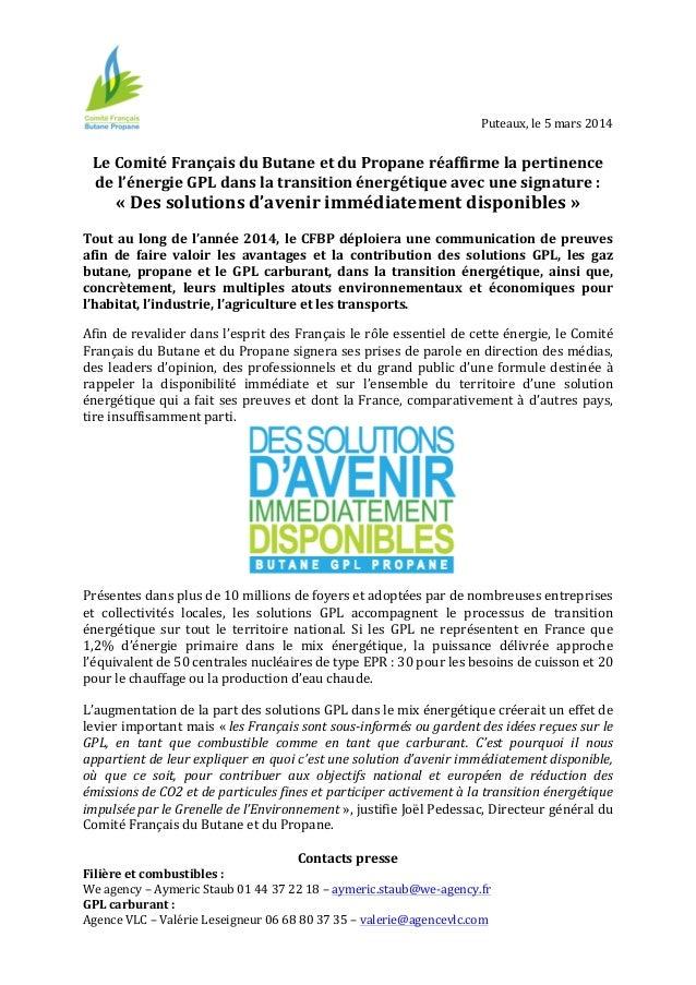 Puteaux,  le  5  mars  2014         Le  Comité  Français  du  Butane  et  du  Prop...