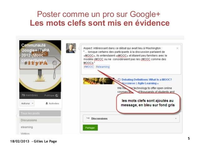 Poster comme un pro sur Google+           Les mots clefs sont mis en évidence                                             ...