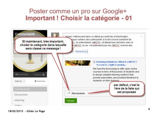 Poster comme un pro sur Google+            Important ! Choisir la catégorie - 01                                          ...