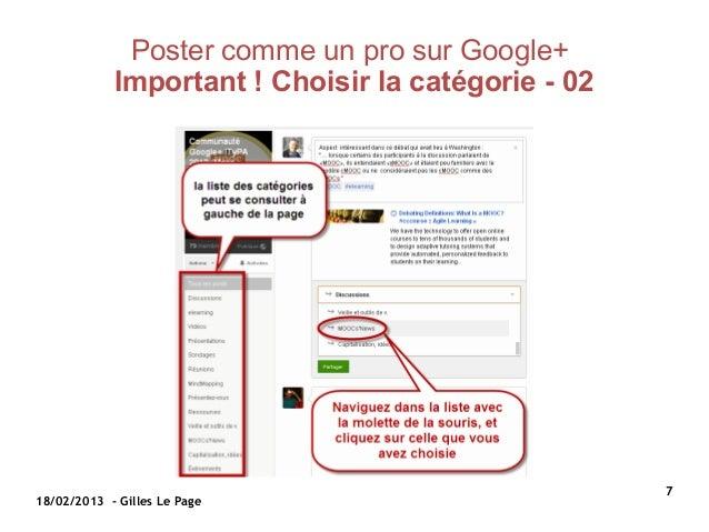 Poster comme un pro sur Google+            Important!Choisirlacatégorie-02                                          ...
