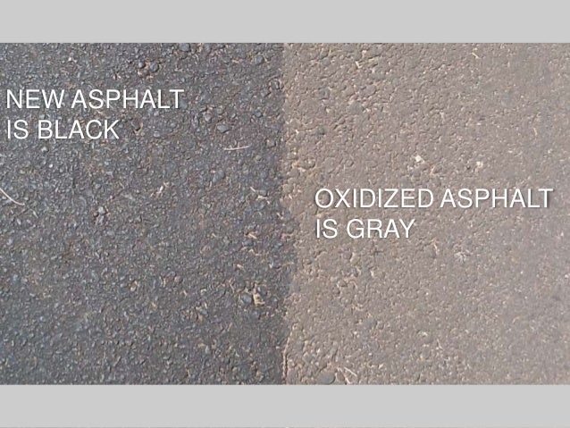 Asphalt repair maintenance do it yourself vs hiring a contractor oxidized asphalt is gray new asphalt is black solutioingenieria Images