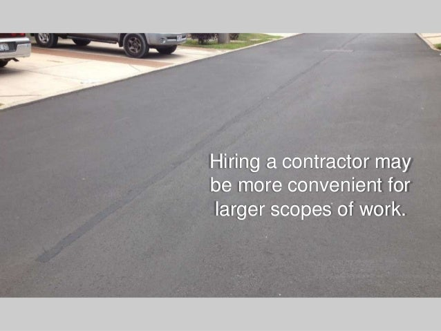 Asphalt repair maintenance do it yourself vs hiring a contractor 44 solutioingenieria Images