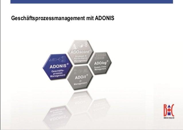 Geschäftsprozessmanagement mit ADONIS