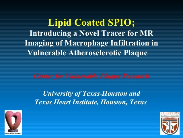 Lipid Coated SPIO; Introducing a Novel Tracer for MR Imaging of Macrophage Infiltration in Vulnerable Atherosclerotic Plaq...