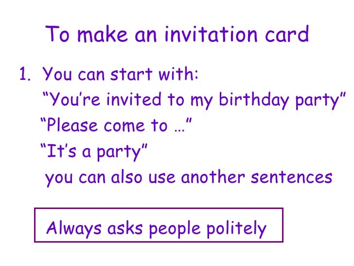 Making Invitation Cards