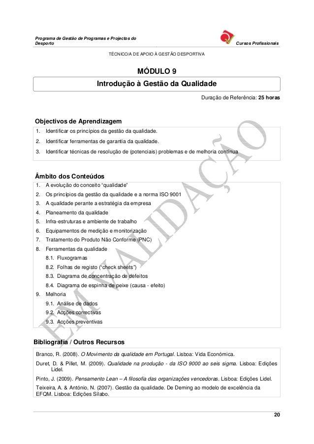 Programa de Gestão de Programas e Projectos doDesporto                                                                    ...