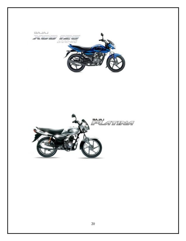 Sales and Marketing of BAJAJ auto Grand Project By Najeeb
