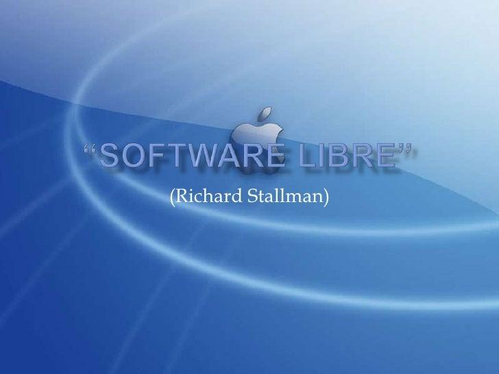 (Richard Stallman)