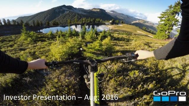 Investor Presentation – Aug. 2016