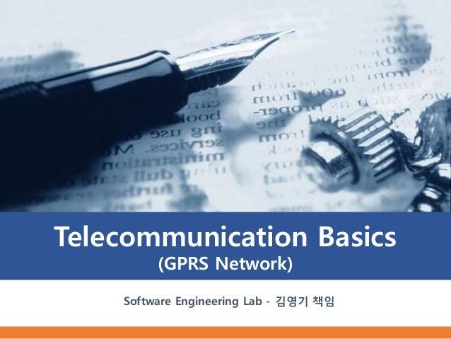 Telecommunication Basics         (GPRS Network)    Software Engineering Lab - 김영기 책임