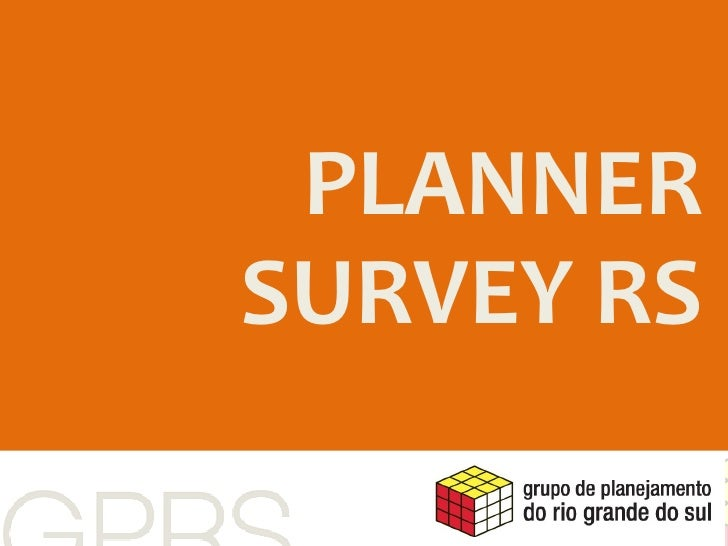 PLANNER   PLANNER SURVEY RS  SURVEY