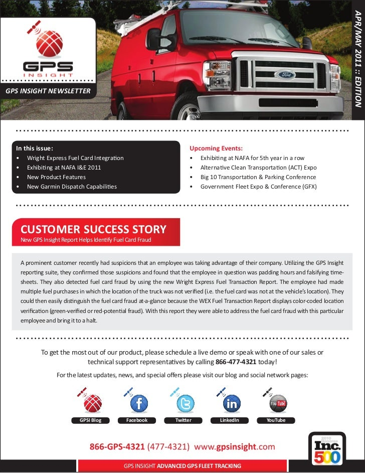 APR/MAY 2011 :: EDITION..... . . . . .. . . . . . . . . . ..... GPS INSIGHT NEWSLETTER      .. . . . . . . . . . . . . . ....