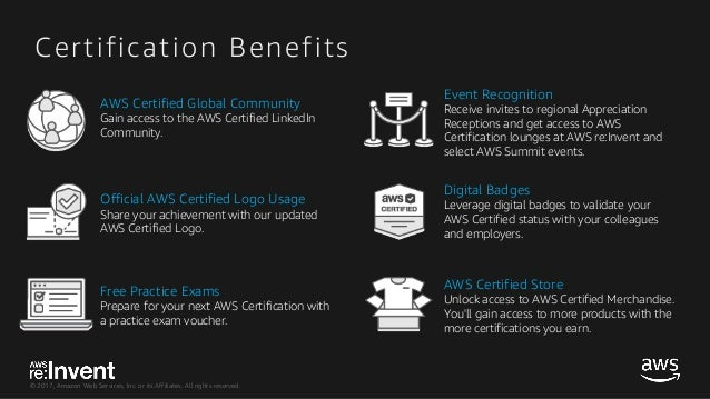 Get AWS Certified - GPSBUS219 - re:Invent 2017