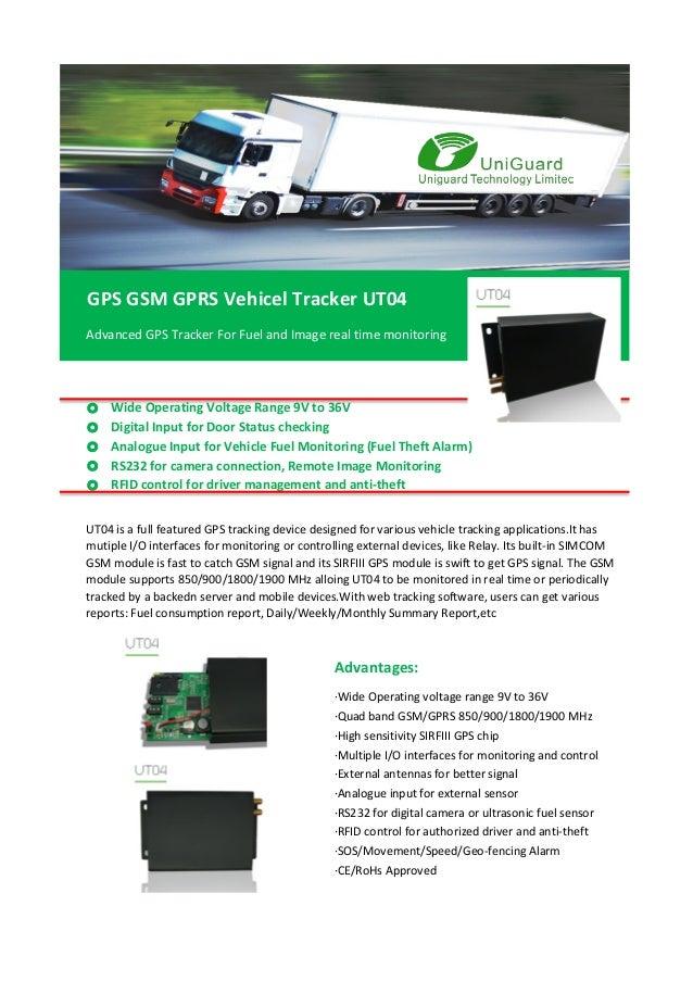 GPS Camera Fuel Tracking System UT04