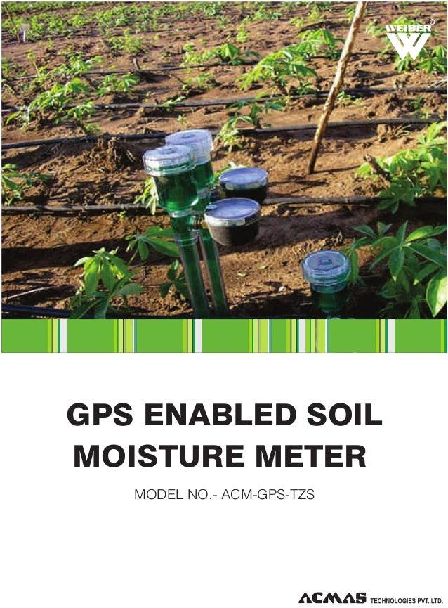 R  GPS ENABLED SOIL MOISTURE METER MODEL NO.- ACM-GPS-TZS