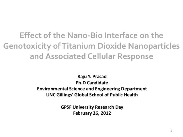 Effect of the Nano-Bio Interface on theGenotoxicity of Titanium Dioxide Nanoparticles      and Associated Cellular Respons...