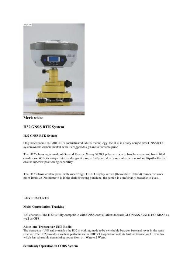 021 95918297 - Jual GPS Geodetic Hi Target H32 RTK GNSS