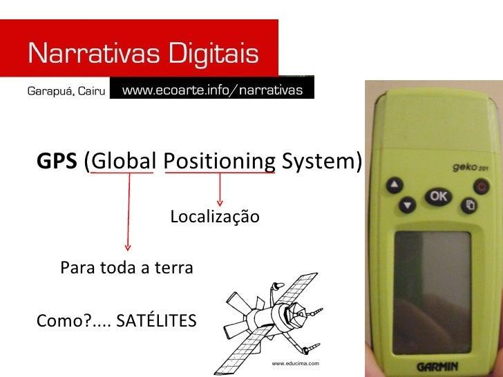 GPS  (Global Positioning System) Para toda a terra Localização Como?.... SATÉLITES www.educima.com