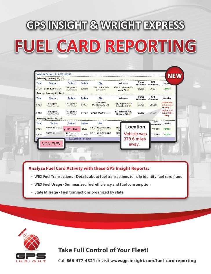 GPS Insight & WEX Fuel Card Integration