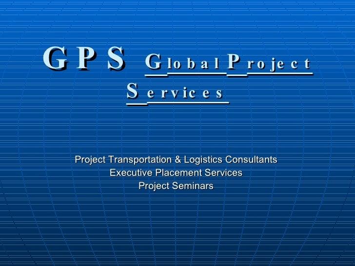 GPS Project Presentation