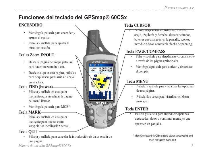 gps 60 csx garmin manual de usuario rh es slideshare net manual de instrucciones gps garmin etrex 30 manual de instrucciones gps garmin nuvi 205w en español