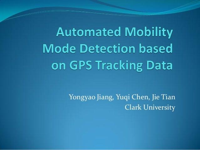 Yongyao Jiang, Yuqi Chen, Jie Tian Clark University
