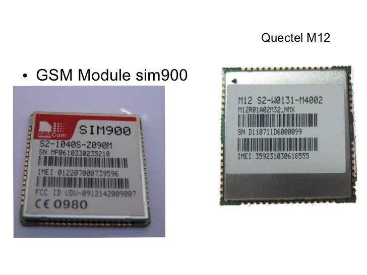 Gps module and gprs/gsm module