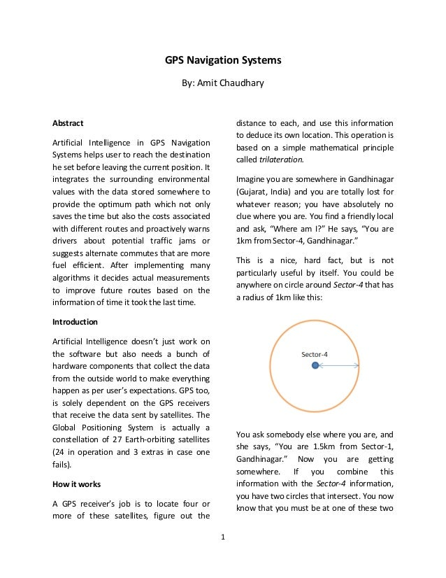 GPS Navigation Systems                                     By: Amit ChaudharyAbstract                                     ...
