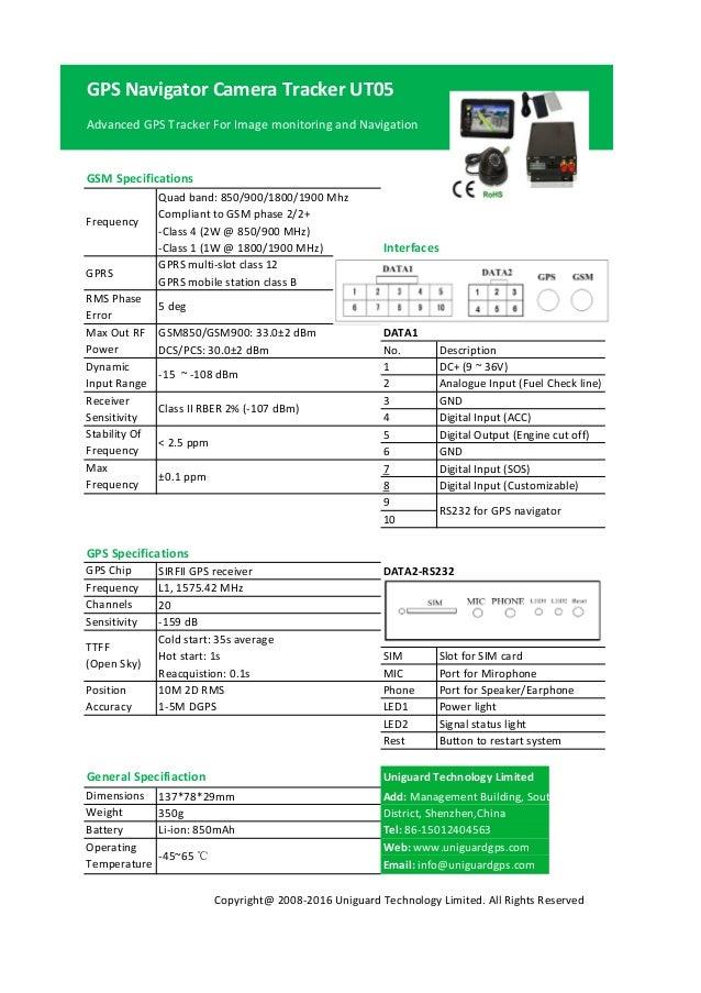 GPS Navigator Camera Tracker UT05