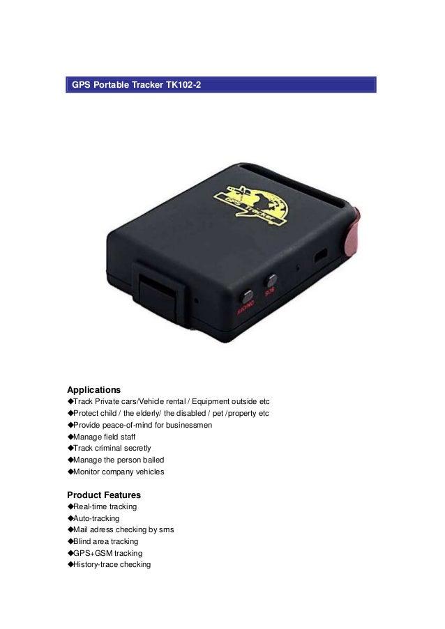 gps portable tracker tk102 2. Black Bedroom Furniture Sets. Home Design Ideas