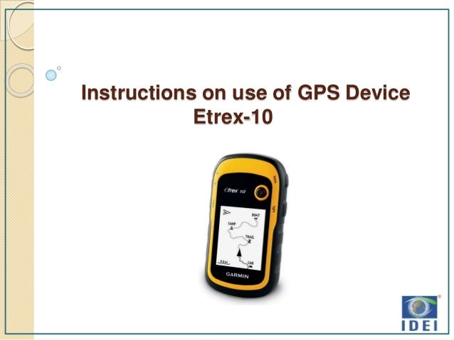 Gps Device Instructions With Area Calculation Of Field