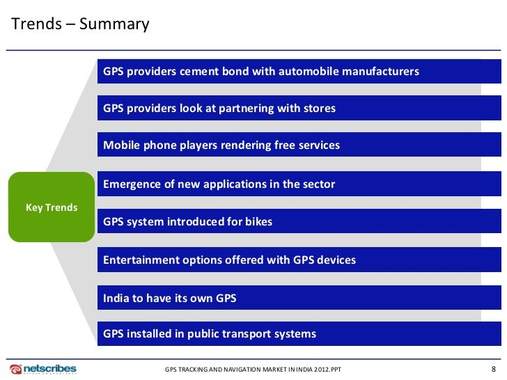 Market Research Report Gps Tracking And Navigation