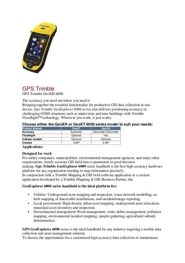 082119696710 - Jual GPS Trimble Geo XM 6000 (Standard