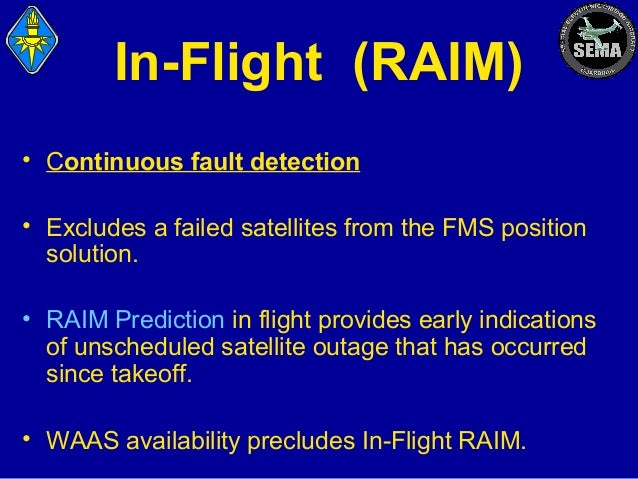 GPS RAIM Prediction Service - Global Positioning System