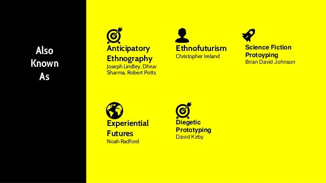 Experiential Futures Noah Radford Also Known As Anticipatory Ethnography Joseph Lindley, Dhruv Sharma, Robert Potts Ethnof...