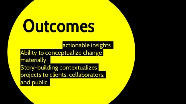 Foresight yields actionable insights. Ability to conceptualize change materially. Story-building contextualizes projects t...