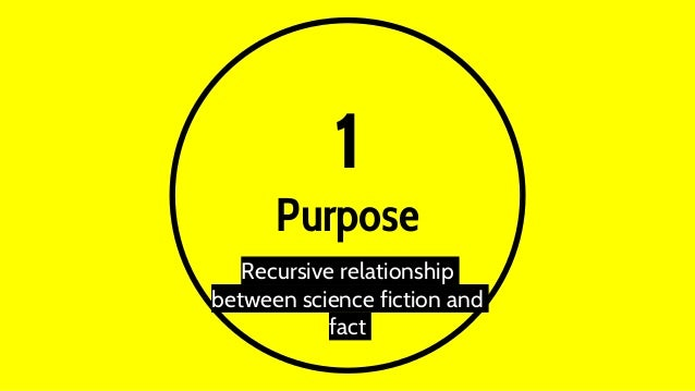 1 Purpose Recursive relationship between science fiction and fact