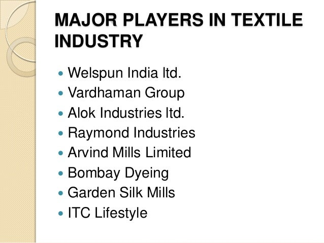 Textile industry in india ppt presentation