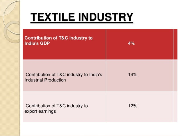 textile industry of india Representatives of textile industry have come forward to register their disappointment with the government for ignoring the calls of an industry which has been one of the most impacted by gst.