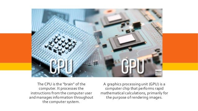 GPU A graphics processing unit (GPU) is a computer chip that performs rapid mathematical calculations, primarily for the p...