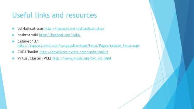 GPU based password recovery on Linux  TXLF 2013