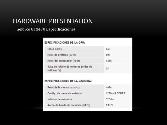 HARDWARE PRESENTATIONGeforce GTX470 Especificaciones