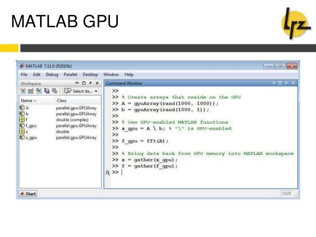Gpu workshop cluster universe: scripting cuda