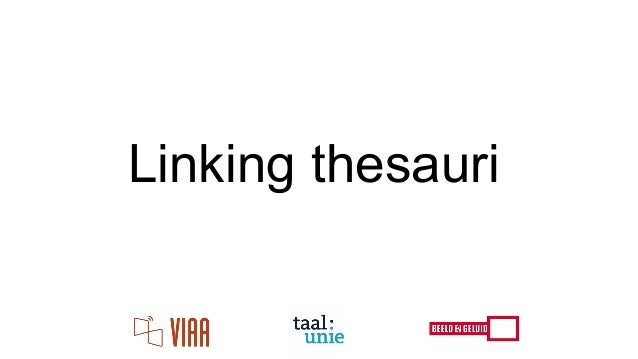 Linking thesauri