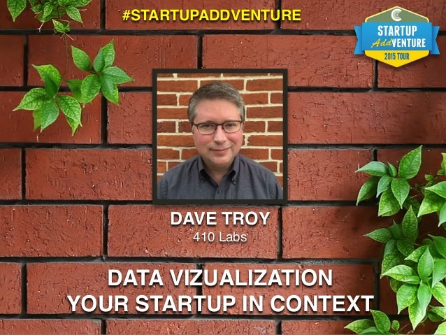 DAVE TROY 410 Labs DATA VIZUALIZATION YOUR STARTUP IN CONTEXT #STARTUPADDVENTURE