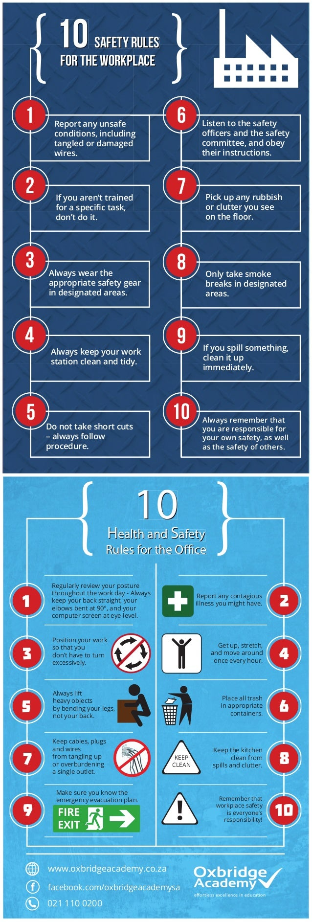 10 safety rules for the workplace 10 safety rules for the workplace 1 2 3 4 5 6 7 8 9 10 Report any unsafe conditions, inc...