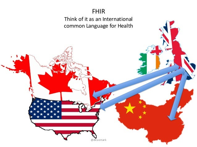 """@ekivemark FHIR Think""""of""""it""""as""""an""""International"""" common""""Language""""for""""Health"""""""