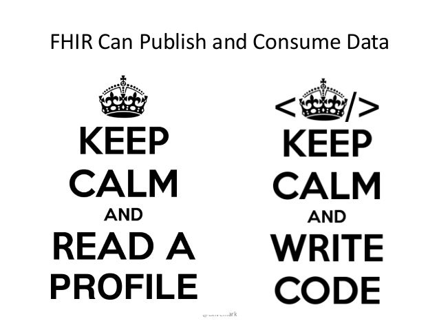 """@ekivemark FHIR""""Can""""Publish""""and""""Consume""""Data PROFILE"""