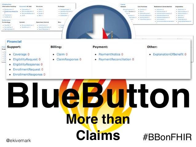 BlueButtonMore than Claims #BBonFHIR@ekivemark