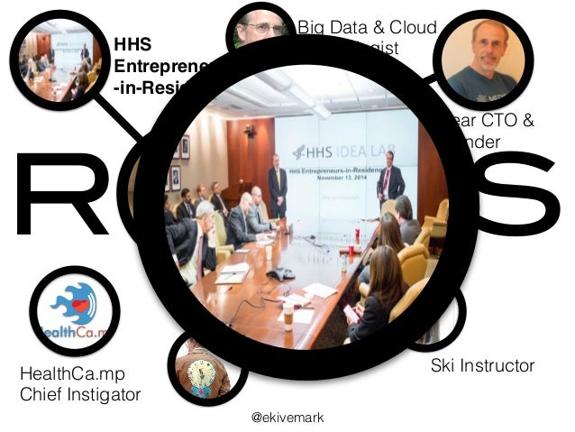 R LES HHS Entrepreneur -in-Residence Medyear CTO & Co-Founder HealthCa.mp Chief Instigator Ski Instructor Big Data & Clo...